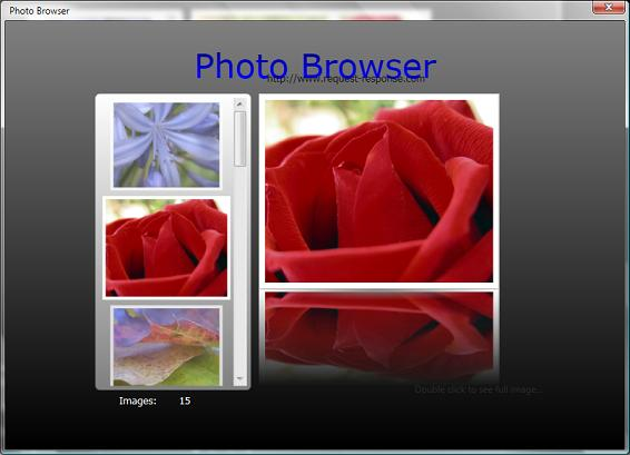 Photo Browser Avalon Application