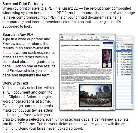 PDF Export in MacOS X