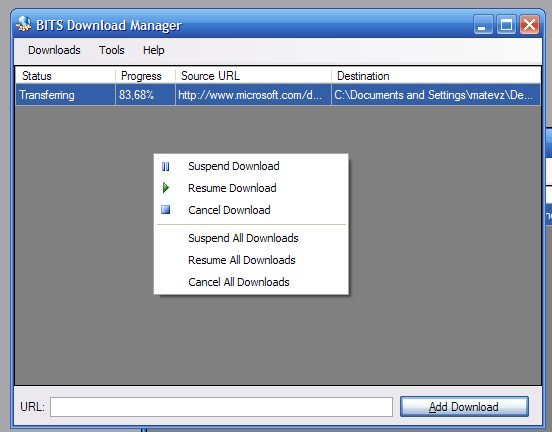 BITS Download Manager