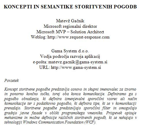 Koncepti in semantike storitvenih pogodb